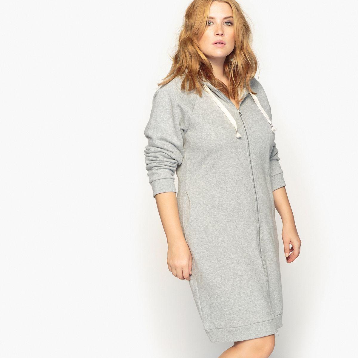 Robe sweat shirt entièrement zippée