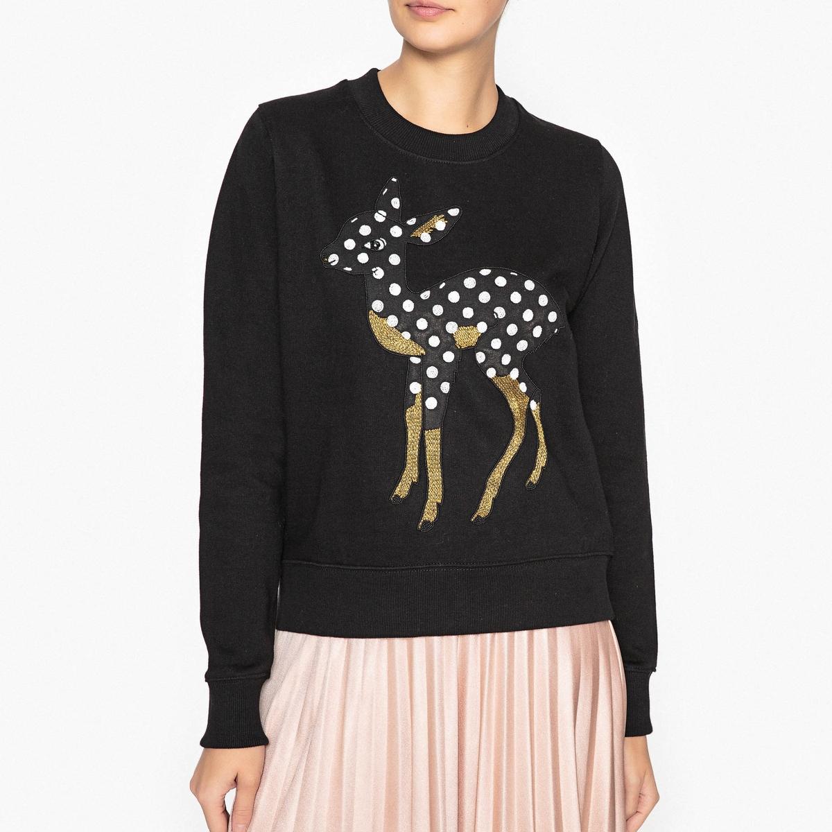 Свитшот Bambi с бисером и блестками OFFIE1