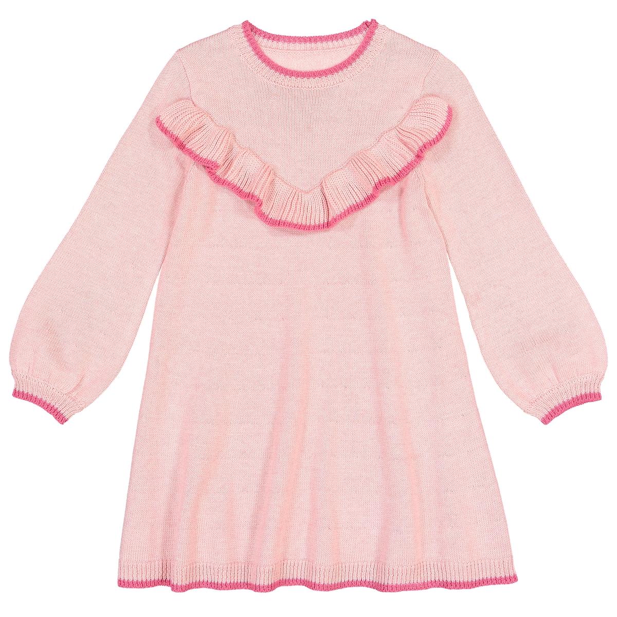 Vestido-camisola com folho, 3-12 anos