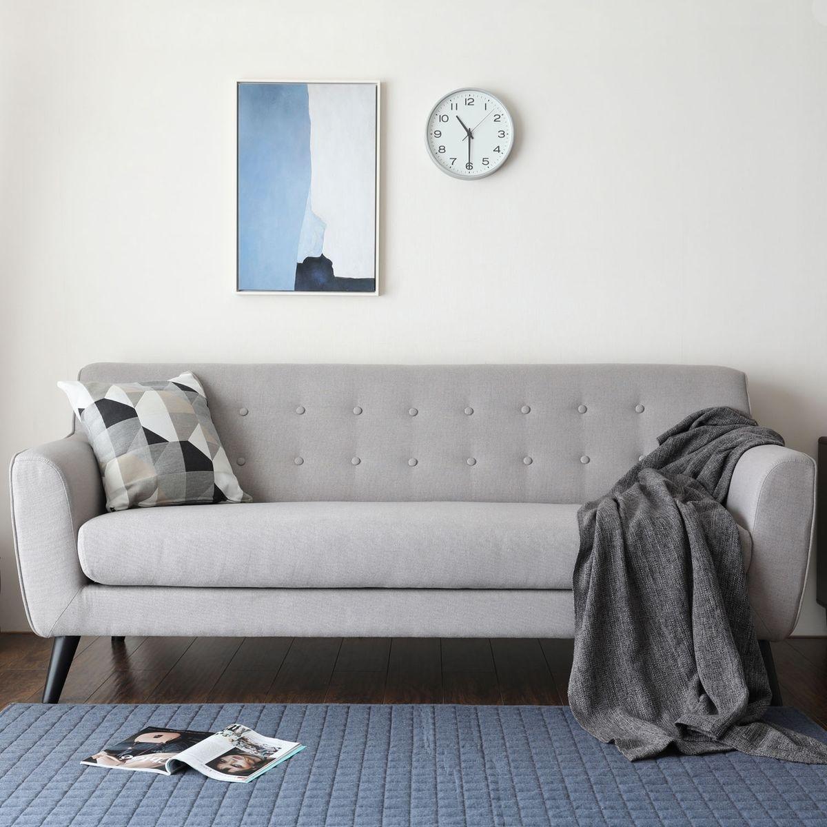 Lysvik 3p : Canapé 3 places scandinave en gris clair