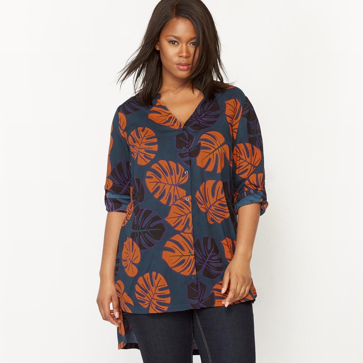 Рубашка-туника с длинными рукавами