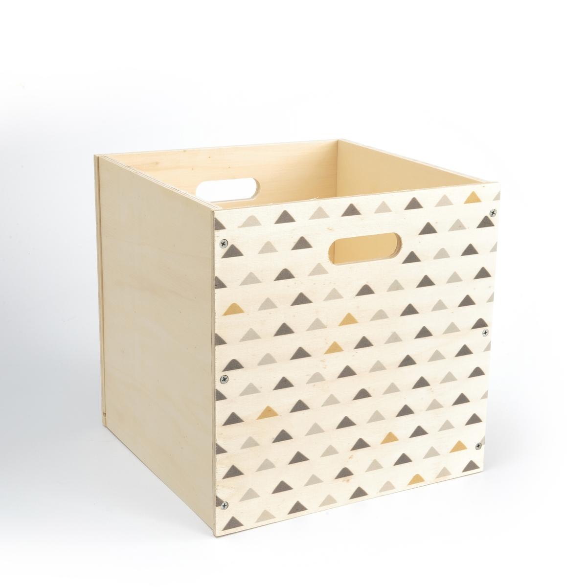 Ящик для хранения VIDZEN [супермаркет] джингдонг грин серия тростника zakka твердого дерева ящик для хранения с замком небольшой деревянный старый цвет дерева