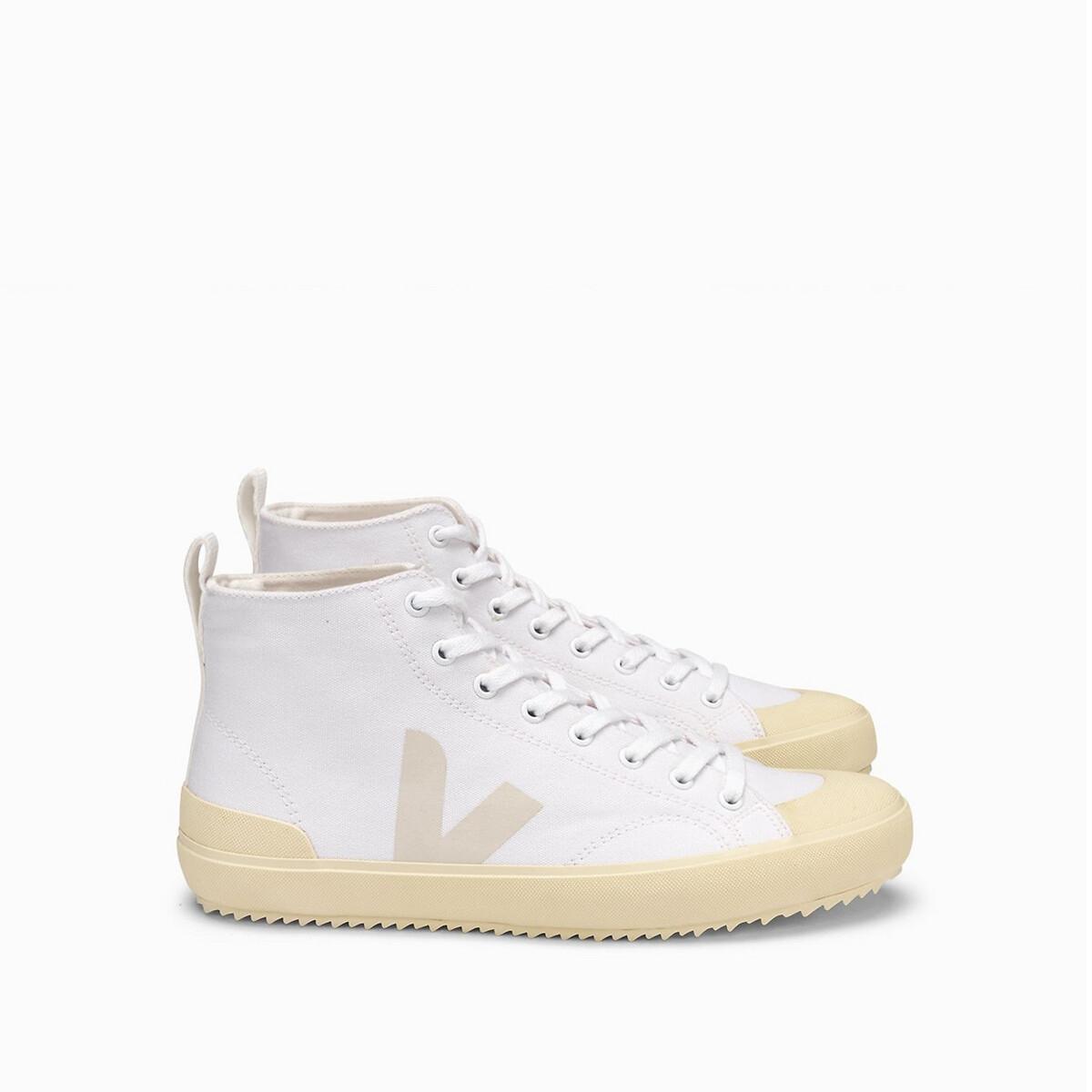 Кеды LaRedoute Высокие из хлопка NOVA 41 белый кеды laredoute высокие тканевые на шнуровке 39 белый