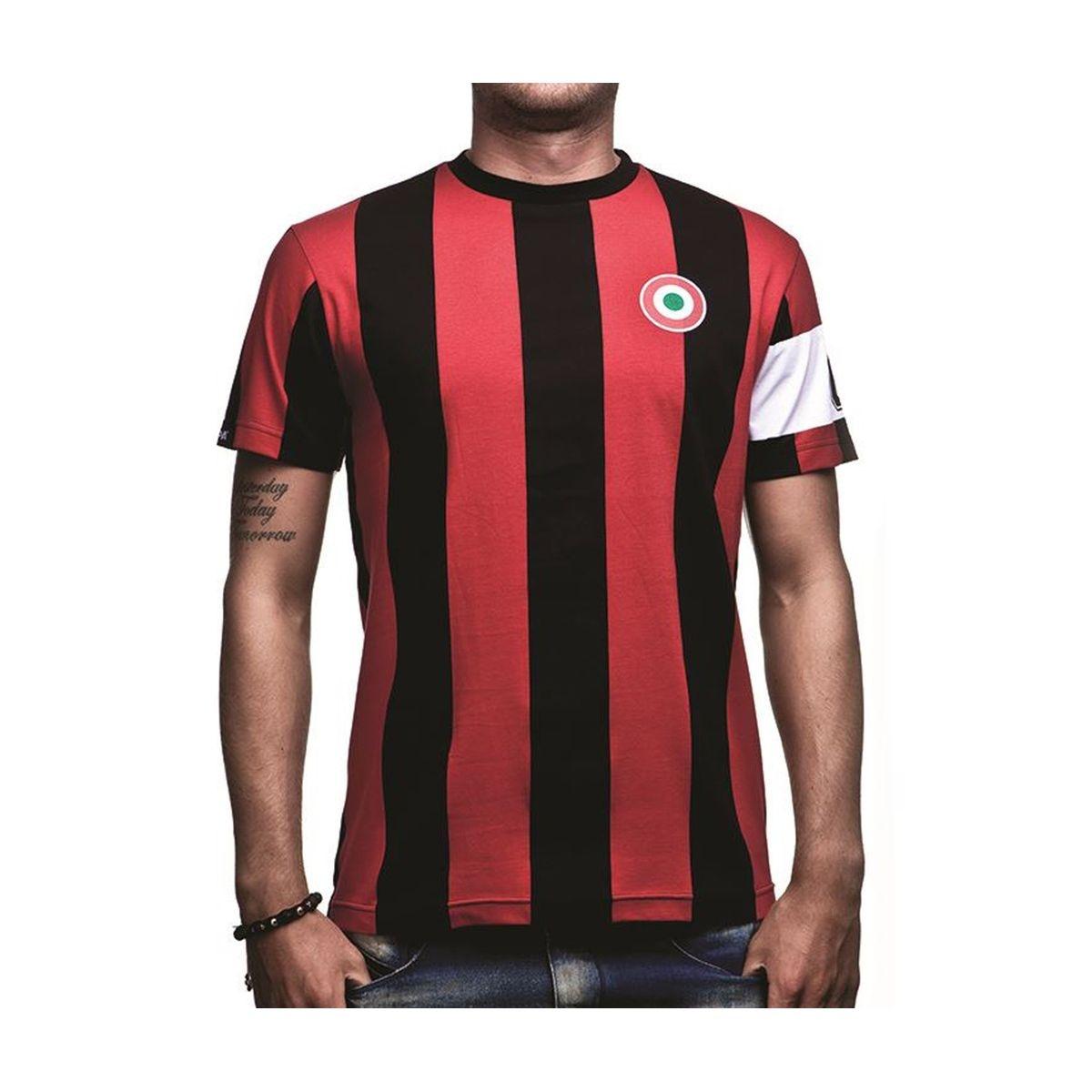 T-shirt Rétro AC Milan Capitaine Rouge/