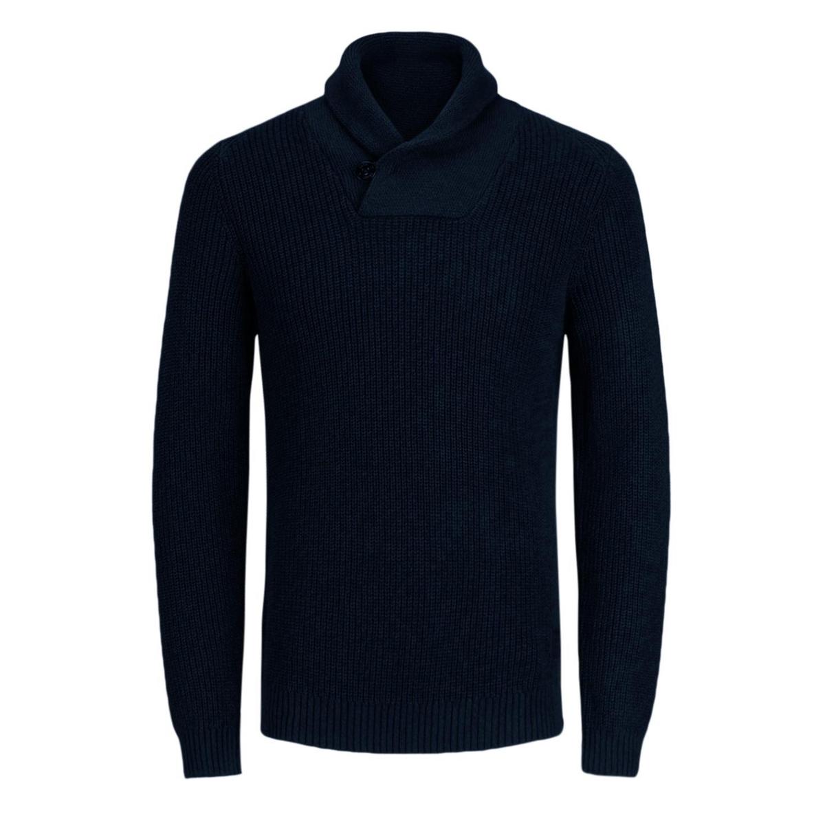 Пуловер с шалевым воротником, из тонкого трикотажа JACK & JONES