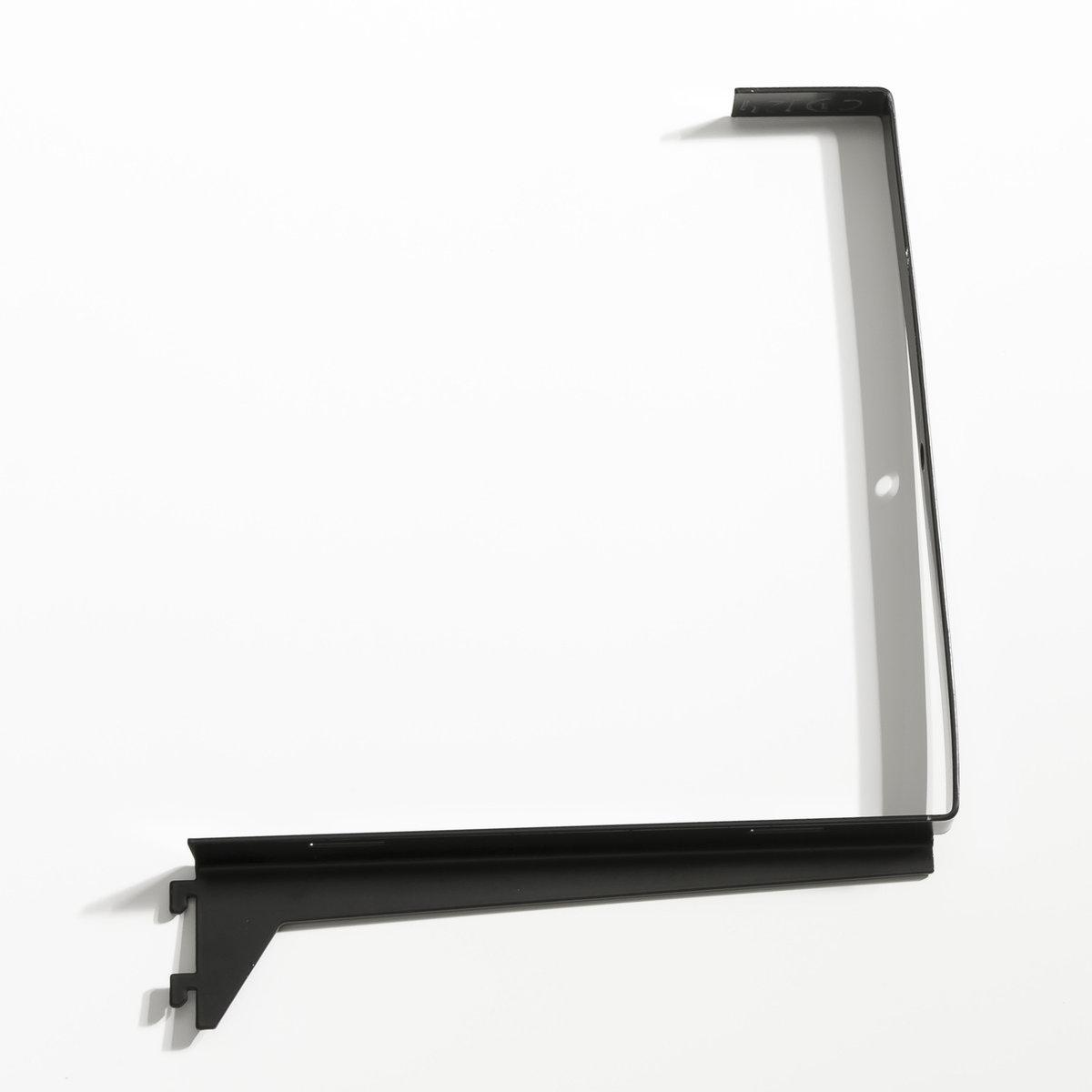 Уголковый кронштейн для ящиков Kyriel (2 шт)Размеры кронштейна : Длина 22,1 x Ширина 27,9 x толщина 2,5 см .    Мебель для гардеробной Kyriel - это модулируемая при желании система, эстетичная и практичная, созданная для любых пространств и стилей  .<br><br>Цвет: черный