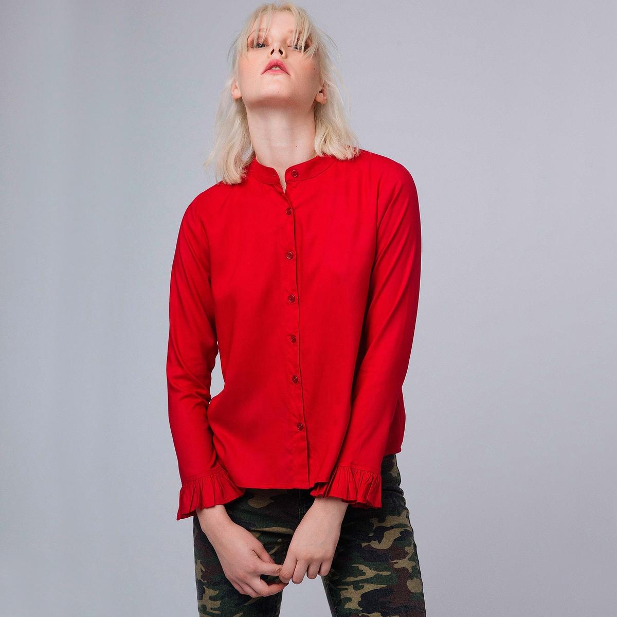 Рубашка с воланами msgm топ с крупными воланами