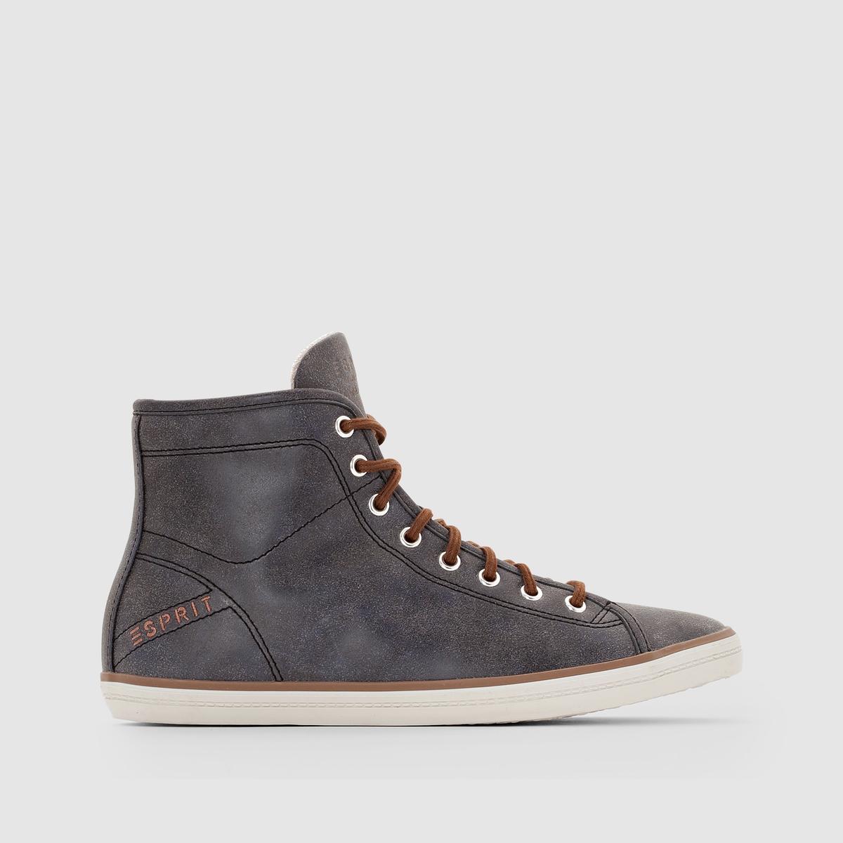 Кеды высокие ESPRIT MATILDA BOOTIEКрасивый современный и усовершенствованный дизайн, с контрастными вставками и шнуровкой, с практичной и стильной застежкой на молнию: кеды-сникерсы, которые созданы для города!<br><br>Цвет: темно-синий<br>Размер: 40