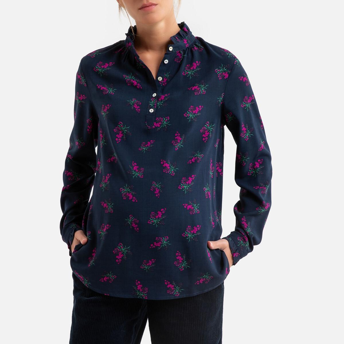 Блузка LaRedoute Для периода беременности с воротником-стойкой цветочный принт 36 (FR) - 42 (RUS) разноцветный