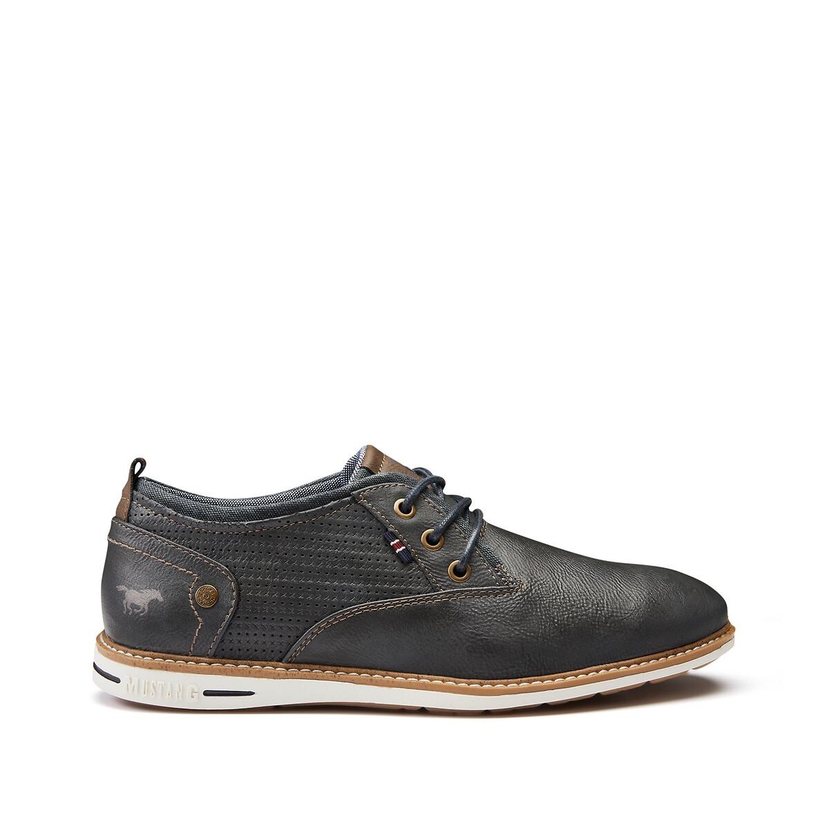 цена Ботинки-дерби La Redoute На шнуровке 44 серый онлайн в 2017 году