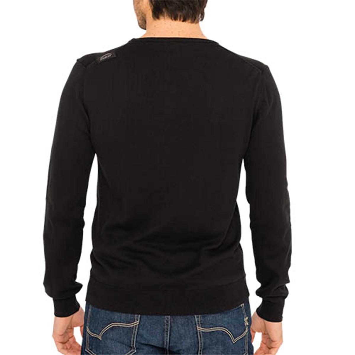 Пуловер с круглым вырезом, из тонкого трикотажаДетали •  Длинные рукава •  Круглый вырез •  Тонкий трикотаж Состав и уход •  100% хлопок •  Следуйте советам по уходу, указанным на этикетке<br><br>Цвет: черный