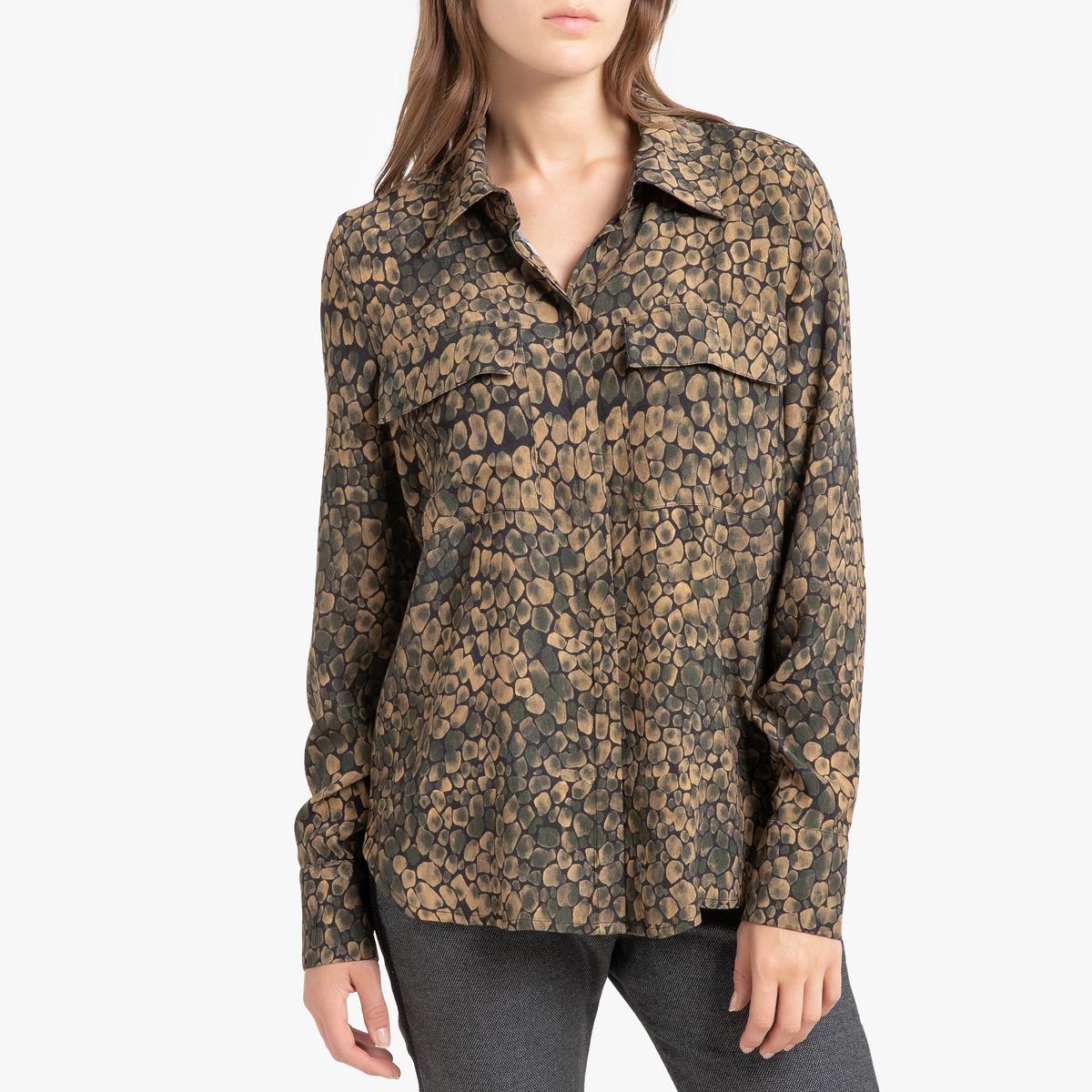 Блузка La Redoute С принтом с длинными рукавами PLUME 36 (FR) - 42 (RUS) другие блузка la neige collection