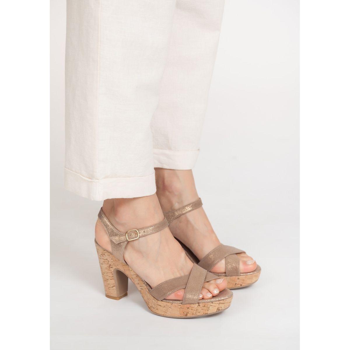Sandales à talons brides irisées