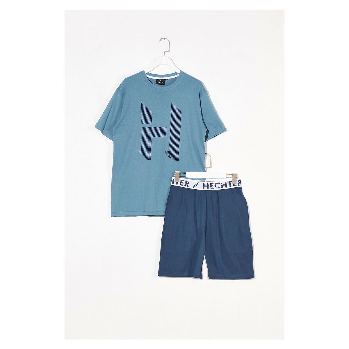 Фото - Пижама LaRedoute С шортами XXL синий пижама laredoute с шортами в полоску m синий
