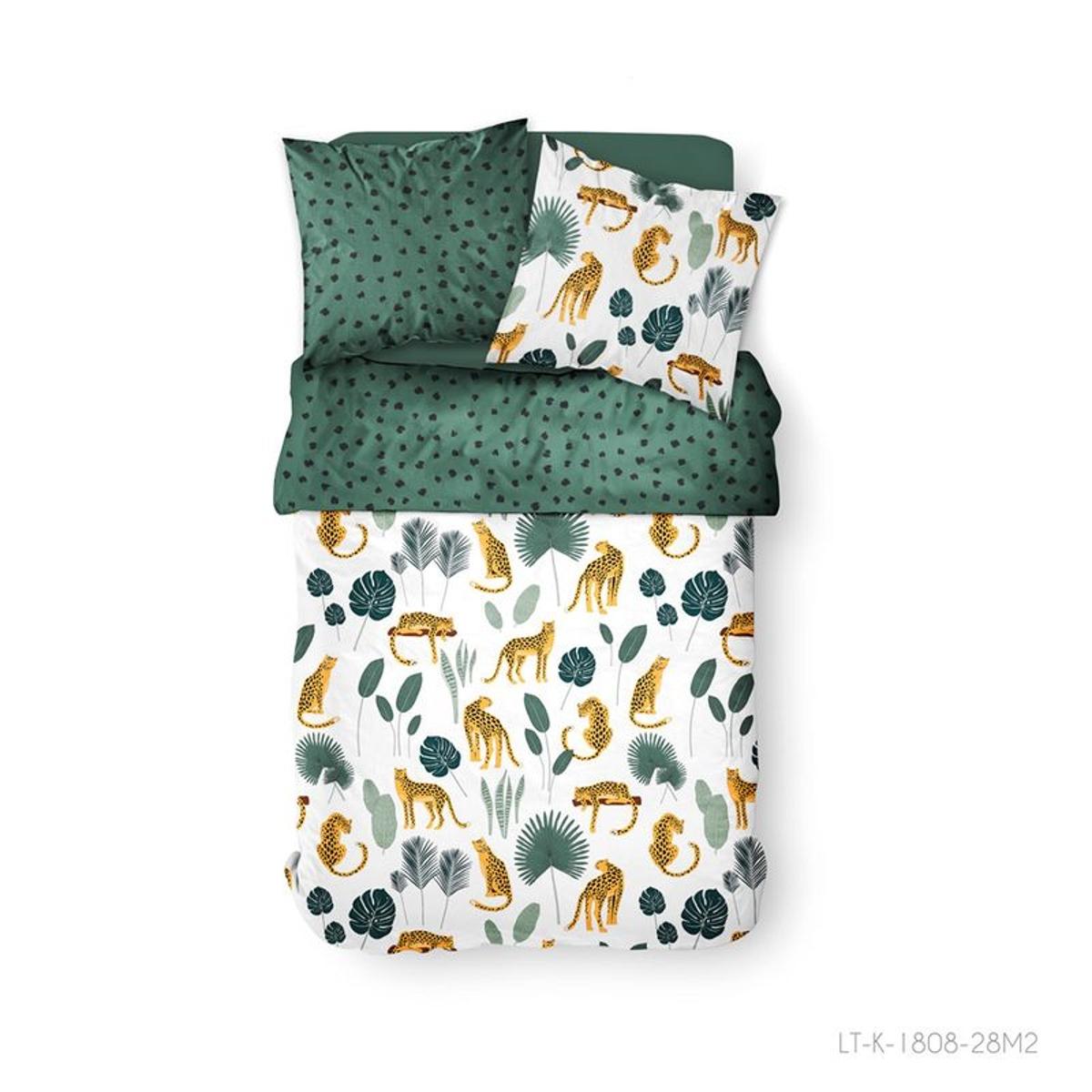 Parure de lit à motifs jungle