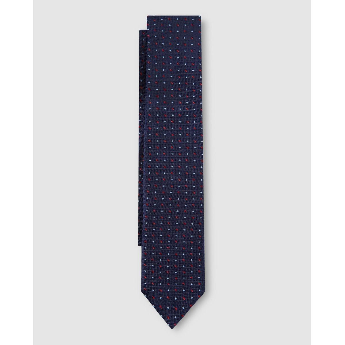 Cravate en soie à micropois