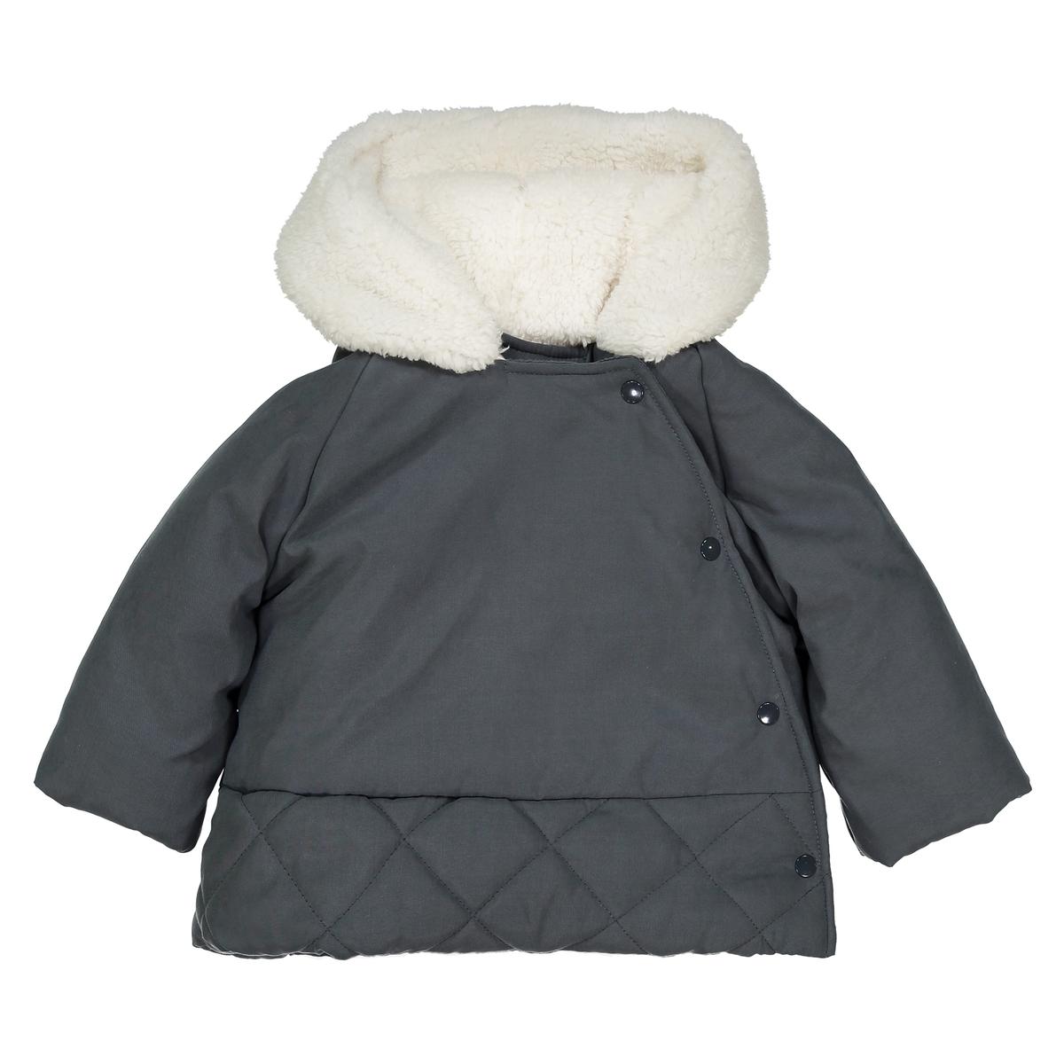 Куртка с капюшоном из искусственного меха, 1 мес. - 3 года цена