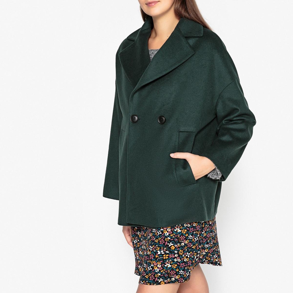 Пальто укороченное из шерсти и кашемира SAMARA пальто из шерстяного драпа 70