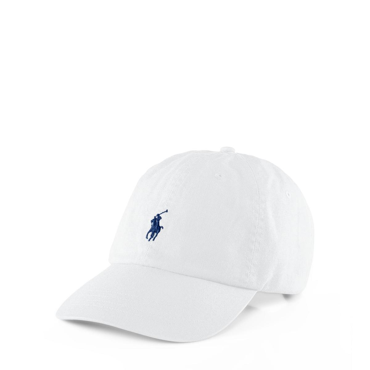 Бейсболка La Redoute Polo Player единый размер белый
