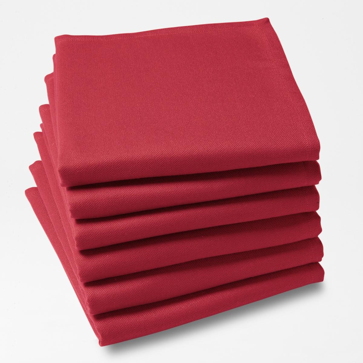 6 салфетокКомплект из 6 однотонных столовых салфеток из 100% полиэстера с покрытием от пятен. Легкость ухода, глажение не требуется. Характеристики столовых салфеток:100% полиэстера.Покрытие от пятен.Подшитые края. Стирать при 40°.Размер. 45 x 45 см.Знак Oeko-Tex® гарантирует, что товары протестированы и сертифицированы, не содержат вредных веществ, которые могли бы нанести вред здоровью.<br><br>Цвет: белый,красный,розовая пудра,светло-серый,серо-коричневый каштан,серый,сине-зеленый<br>Размер: 45 x 45  см.45 x 45  см.45 x 45  см.45 x 45  см