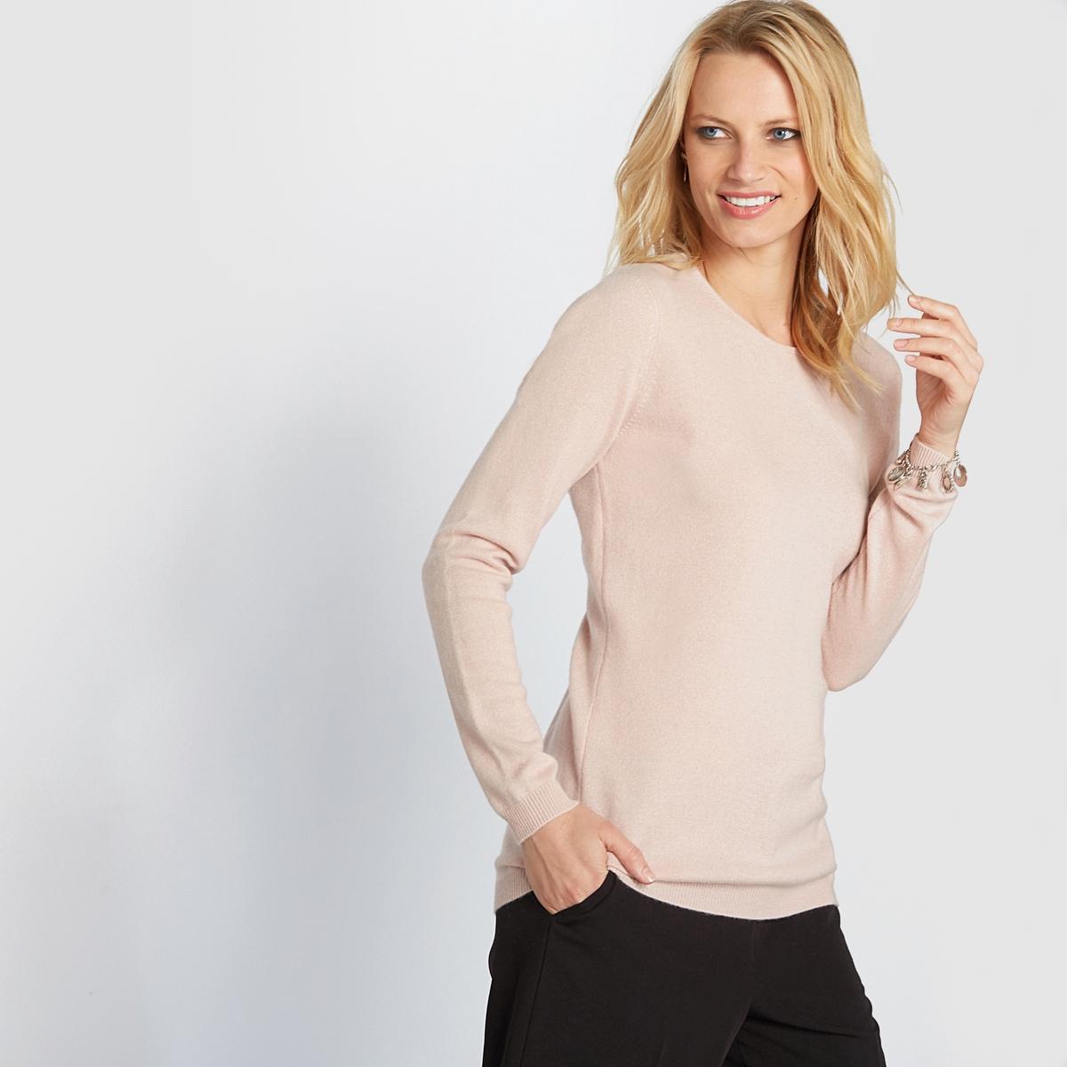 Пуловер, 100% кашемира, с круглым вырезом из тонкого трикотажа от ANNE WEYBURN