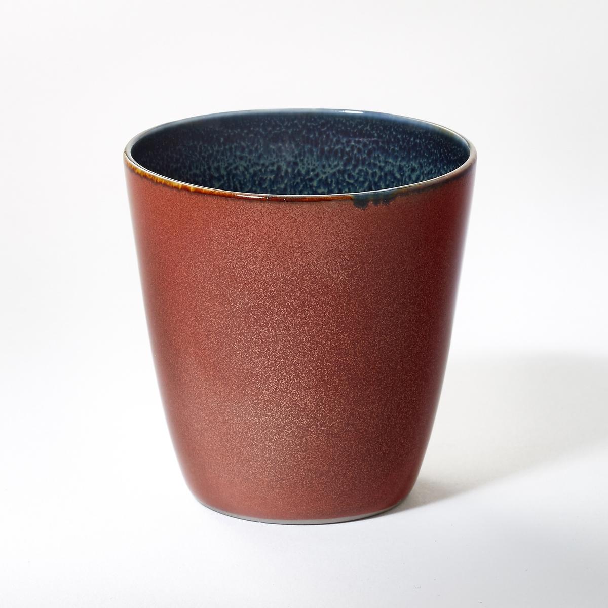 Стакан из керамики, высота 7,5 см, BanokaСтакан из керамики, покрытой глазурью, Banoka придаст Вашему интерьеру ярких цветов и перенесет Ваших гостей в мечту. Размеры  : диаметр 7 x высота 7,5 см.<br><br>Цвет: красный<br>Размер: единый размер