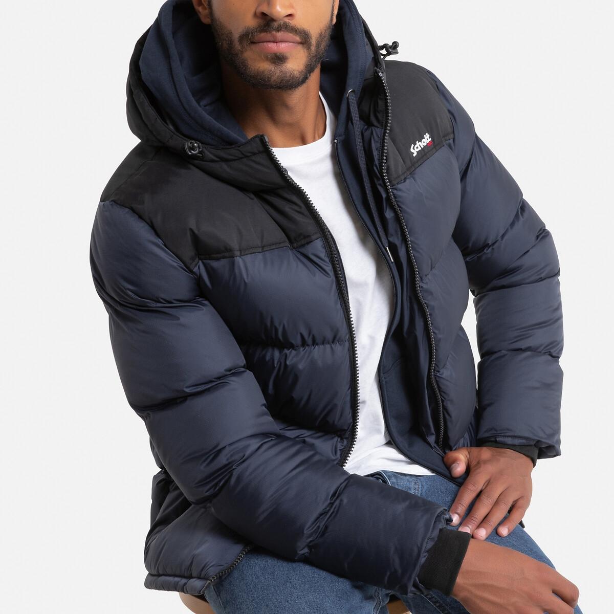 Куртка LaRedoute Стеганая двухцветная с капюшоном Utah 2 XXL синий куртка la redoute стеганая на молнии с капюшоном idaho 2 3xl синий