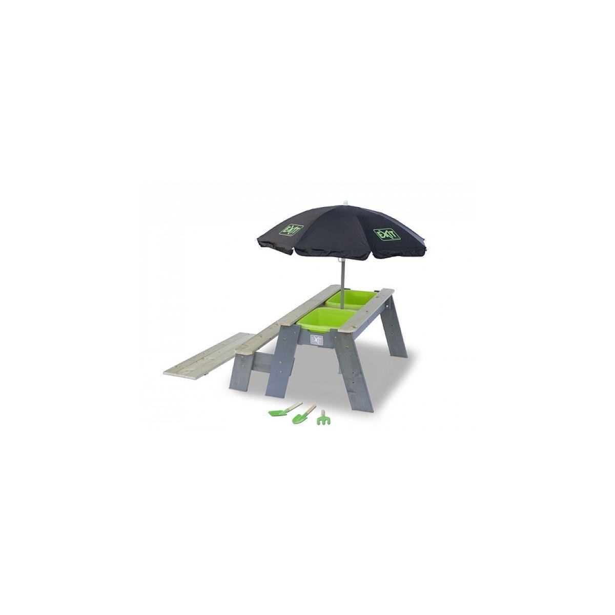 EXIT Aksent Table ? sable, eau et pique-nique +1 Banc + Parasol + Outils Jardin