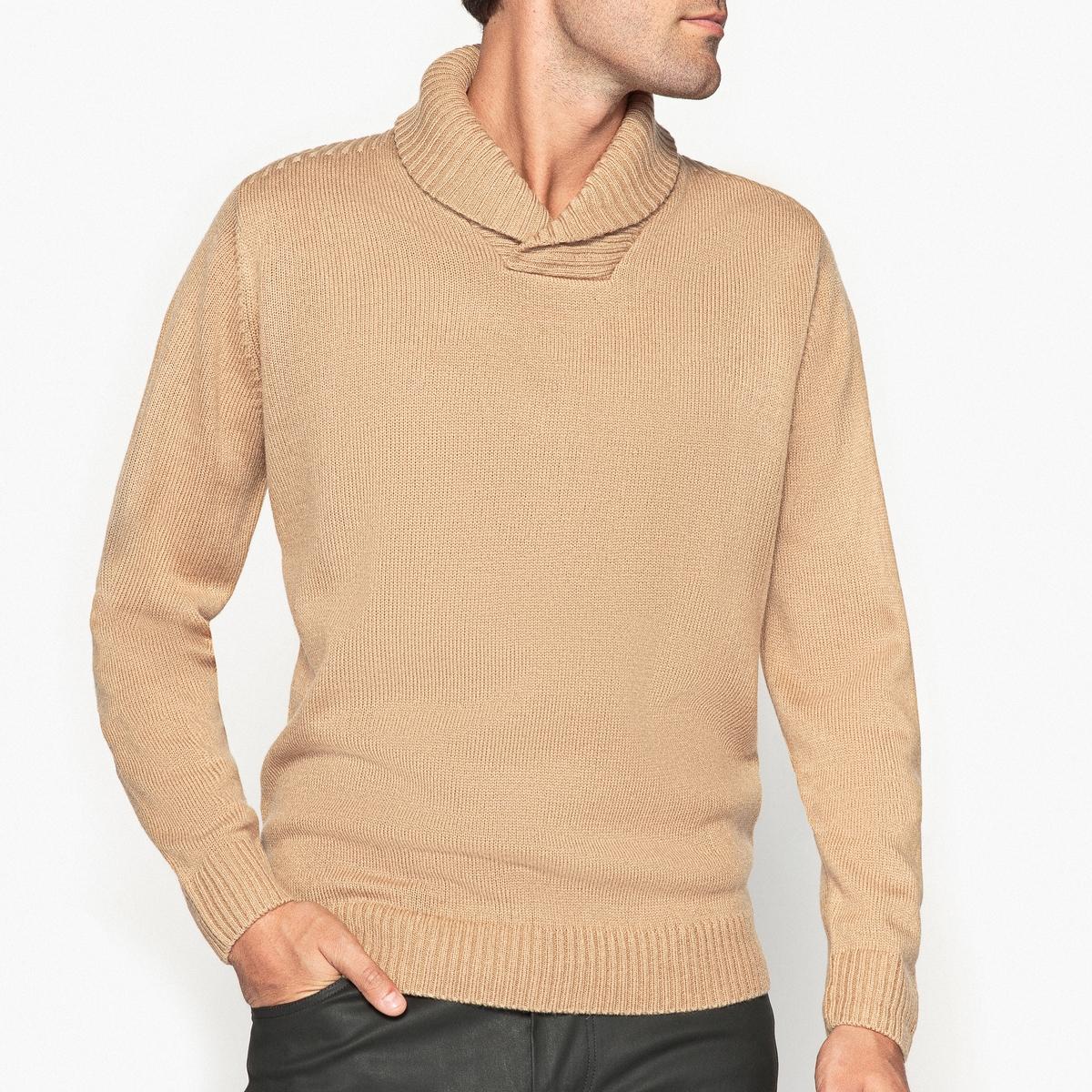 Пуловер с шалевым воротником от La Redoute Collections