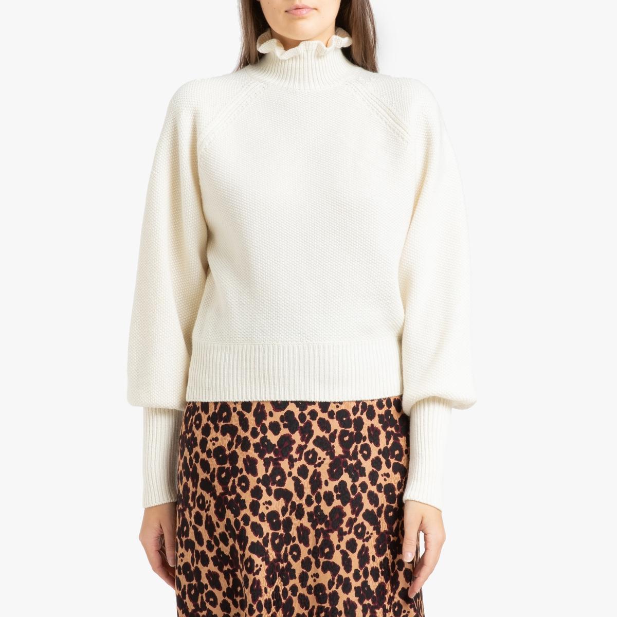 Пуловер La Redoute С воротником-стойкой из трикотажа RAPH 2(M) бежевый цена в Москве и Питере