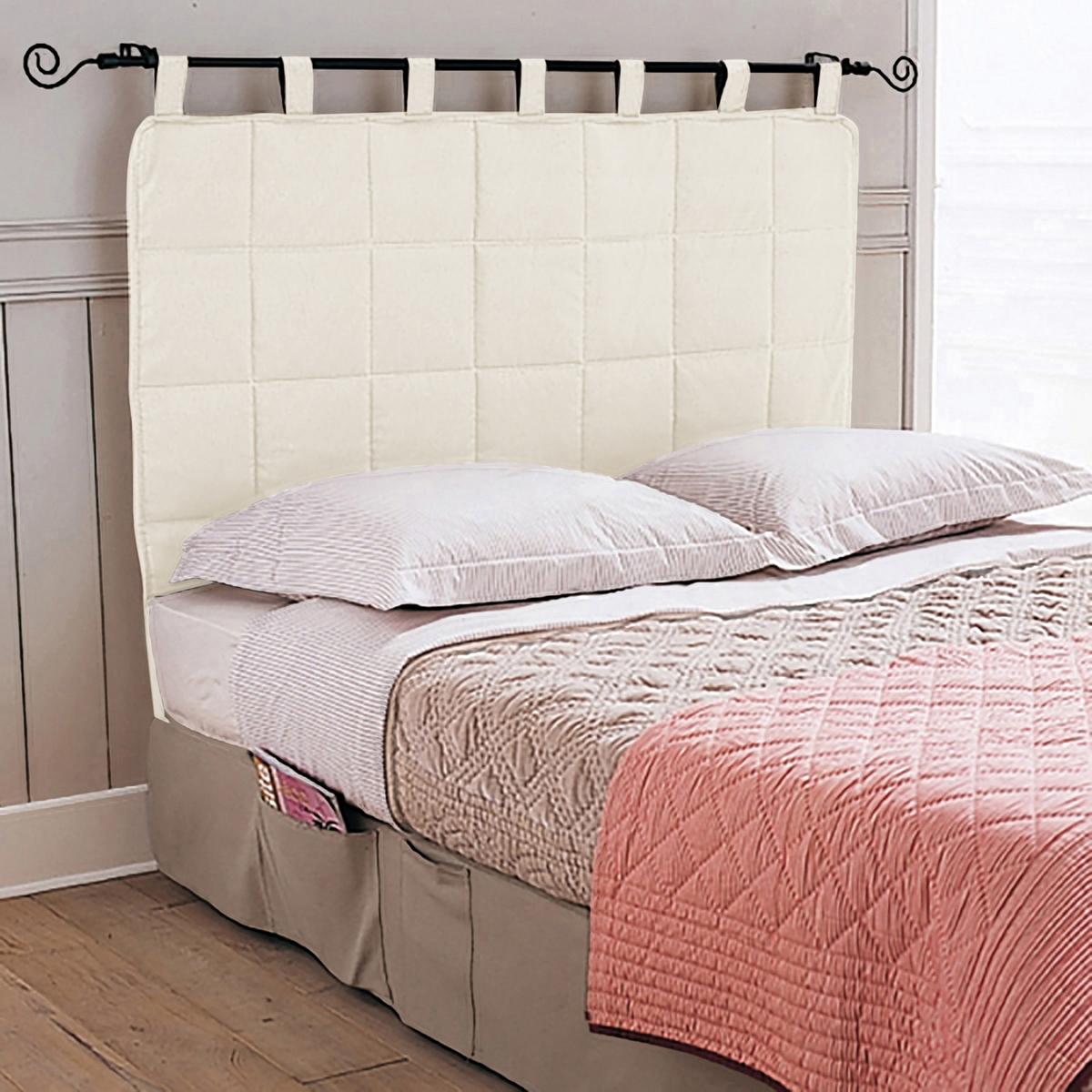 Панель для изголовьяСтеганая панель для изголовья кровати элегантно дополнит интерьер Вашей спальни. Ткань из 80% хлопка, 20% полиэстера. 5 стильных цветов на выбор. Высота 90 см (из них 10 см - шлевки). Стирка при 40°.<br><br>Цвет: бежевый,серо-коричневый каштан,серый жемчужный,серый,экрю<br>Размер: 140 x 100 см