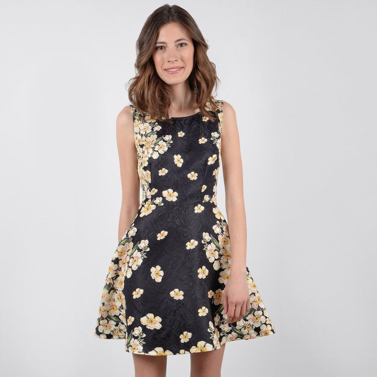 Платье мини с цветочным рисунком с короткими рукавами джинсы lee lee le807ewvgx73