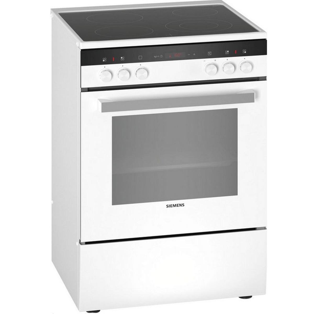 siemens - cuisinière vitrocéramique 63l 4 feux blanc - hk9r4r120