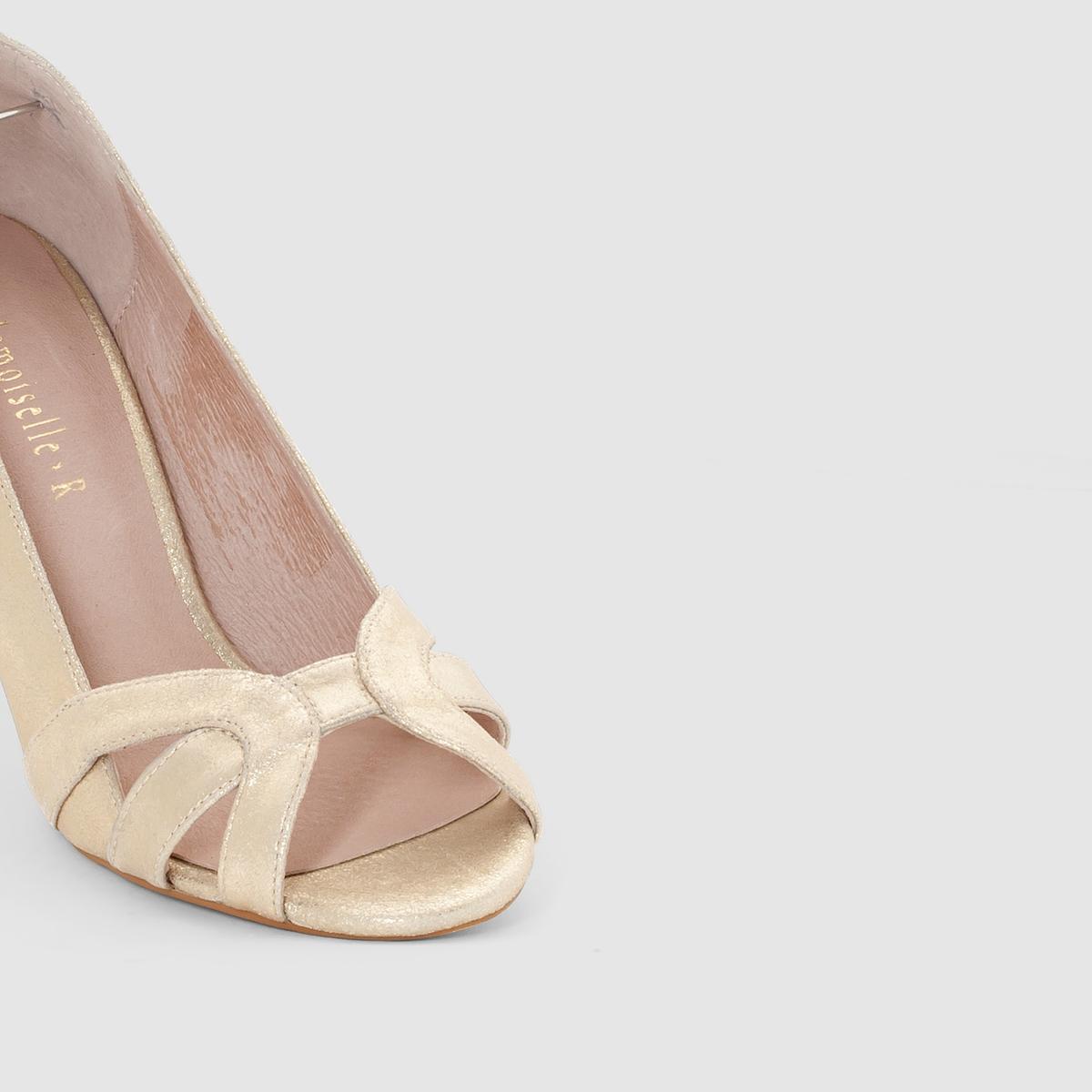 Туфли кожаныеДетали  •  Каблук-шпилька •  Застежка : без застежки •  Круглый мысок •  Гладкая отделкаСостав и уход  •  Верх 100% кожа •  Подкладка 100% кожа<br><br>Цвет: золотистый,черный<br>Размер: 40.38.37
