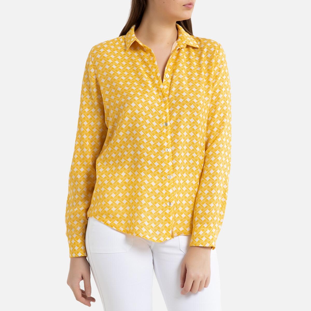 Рубашка La Redoute С длинными рукавами DORABIRD M желтый цена 2017