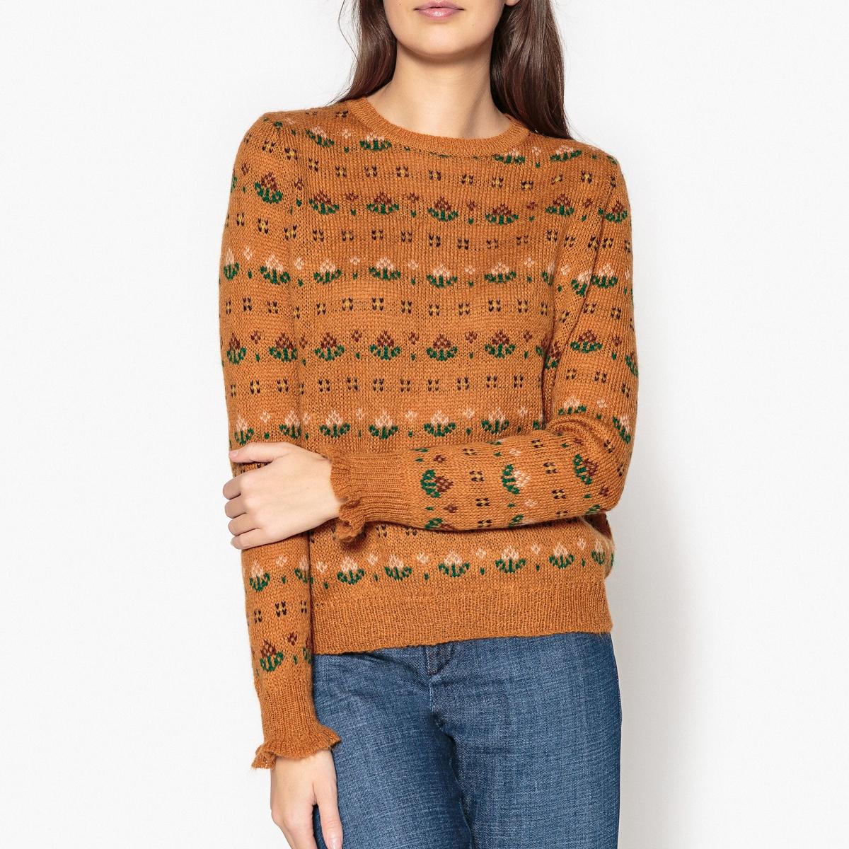 Пуловер с круглым вырезом из тонкого трикотажа MANTEQUILLA