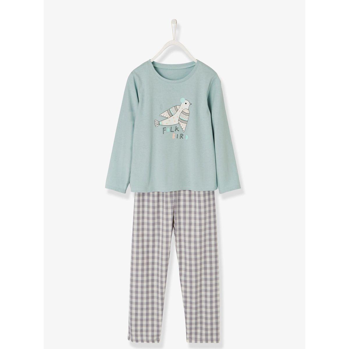 Pyjama bi-matière fille