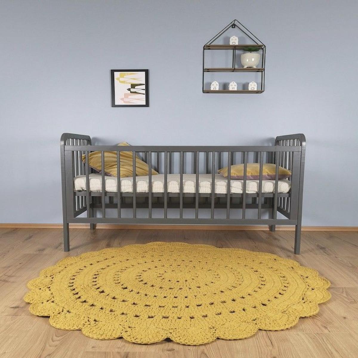 ALMA Mangue rond lavable pour Chambre bébé par Nattiot
