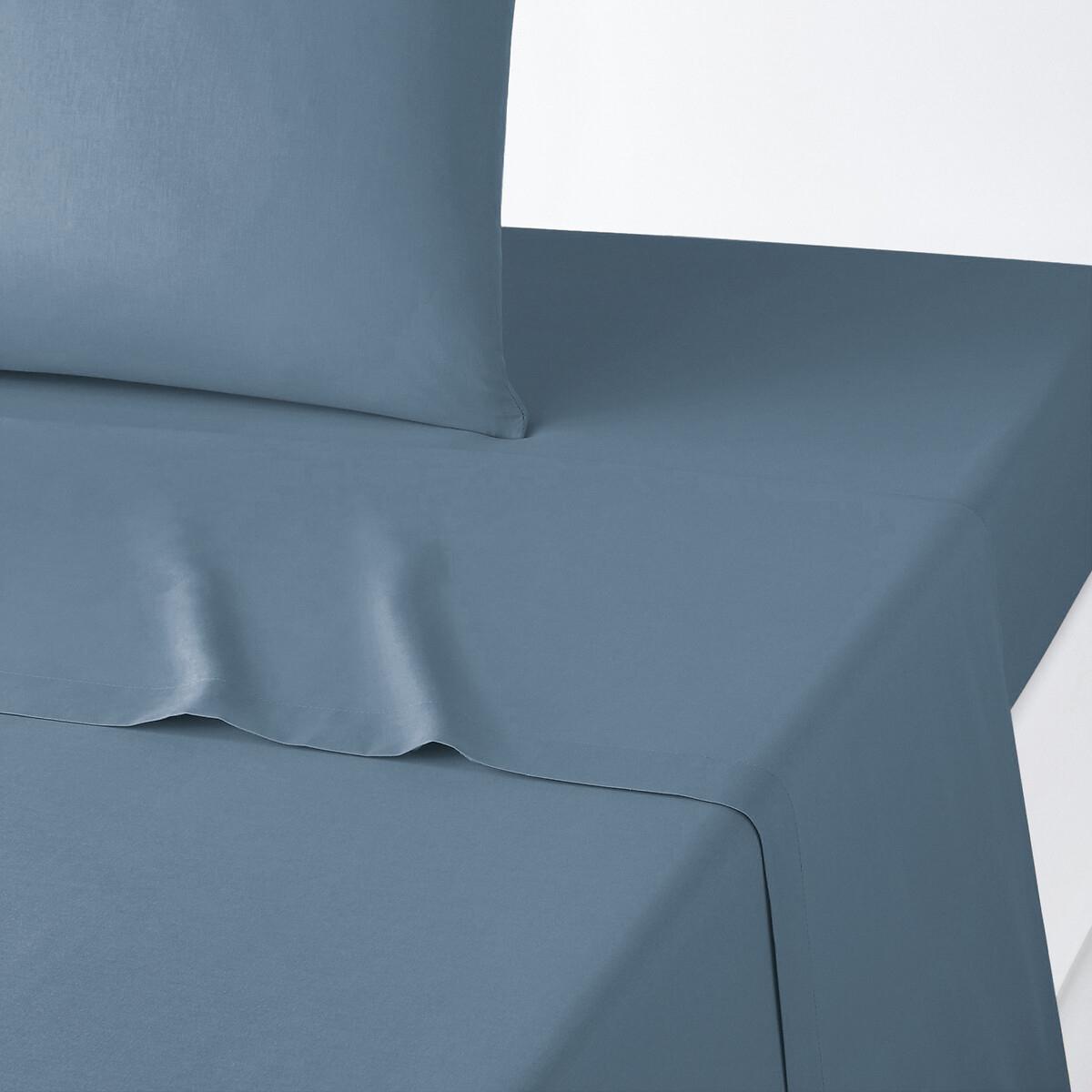 Простыня LaRedoute Однотонная из поликотона Scenario 270 x 290 см синий пододеяльник laredoute детский из поликотона scenario 140 x 200 см синий