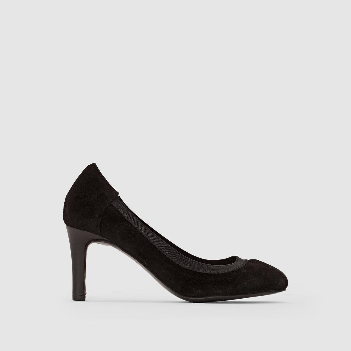 Туфли из велюровой кожи