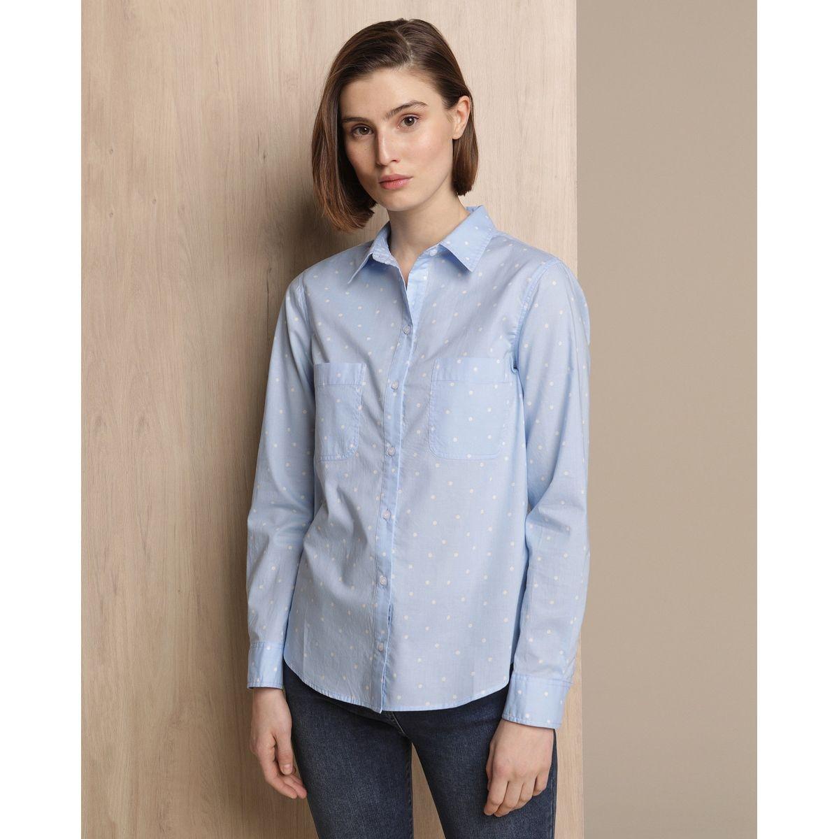 Chemise 100 % coton avec poches sur la poitrine