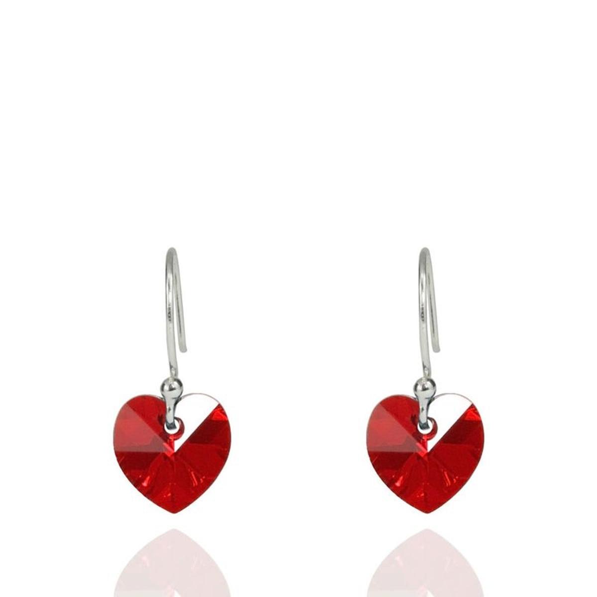 Boucles d'oreilles cristal et argent 925 COEUR ROMANCE made in France