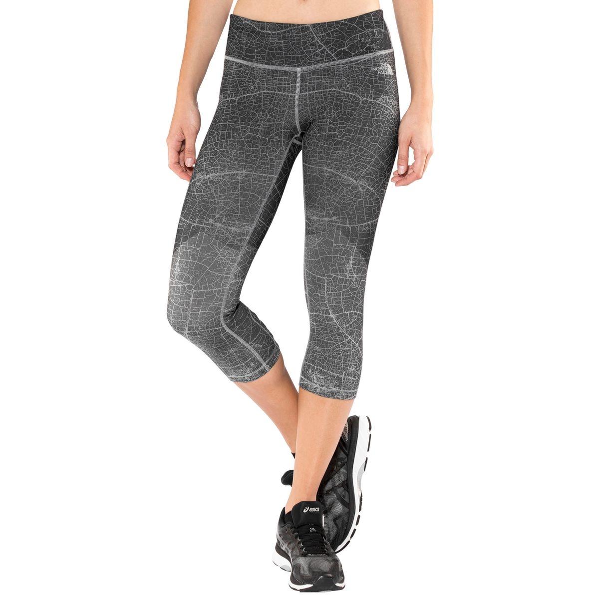 Motivation Printed Crop - Shorts Femme - gris