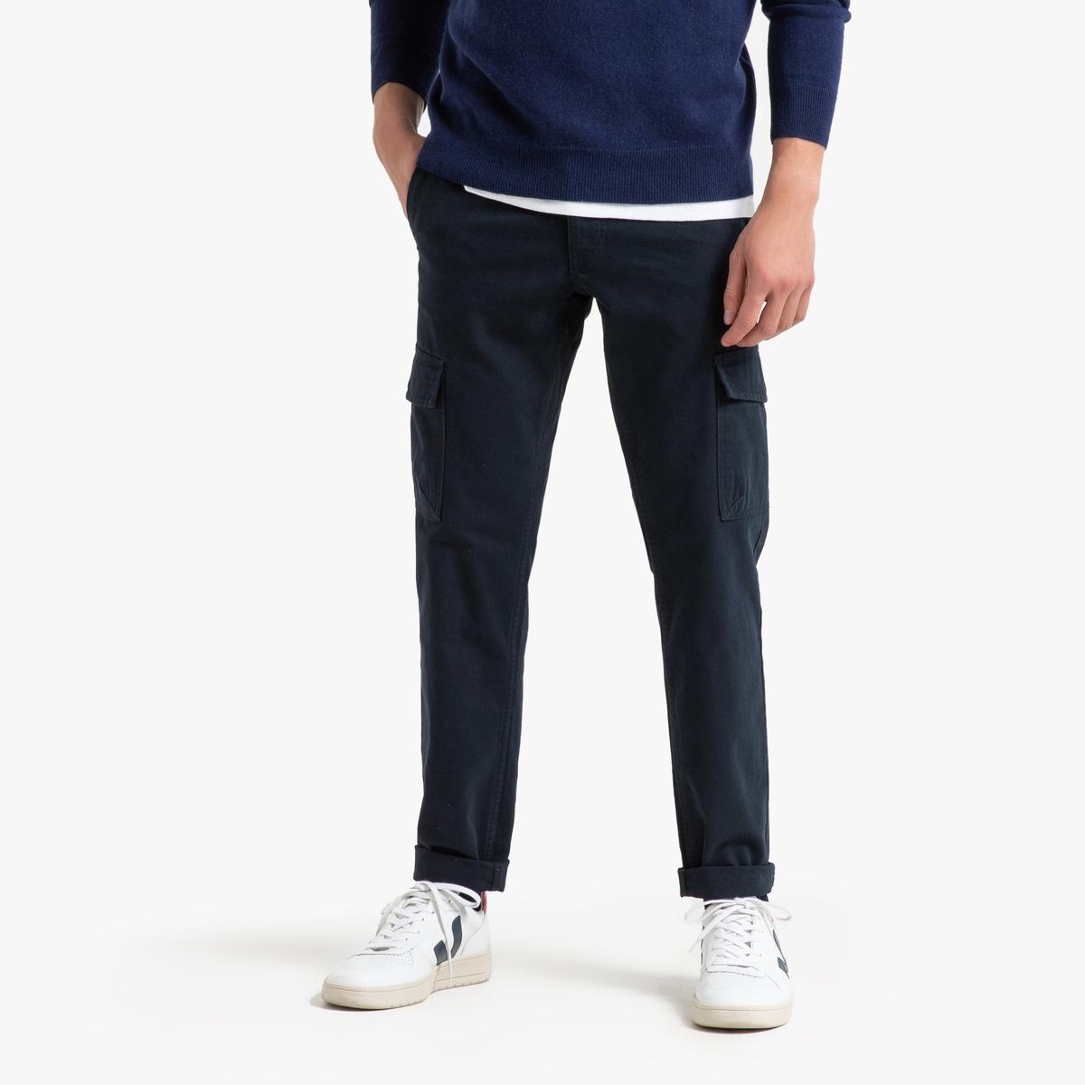 Брюки La Redoute Карго узкие 46 (FR) - 52 (RUS) синий джинсы la redoute узкие для периода беременности 36 fr 42 rus серый