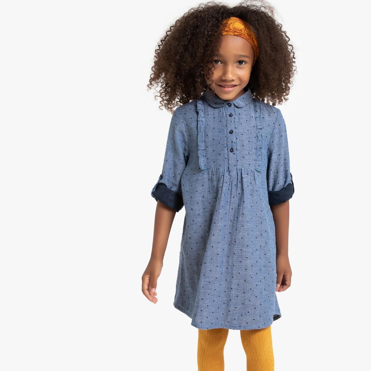 Платье La Redoute С длинными рукавами с отворотами 12 лет -150 см другие платье la redoute с длинными рукавами с цветочным принтом 12 лет 150 см другие