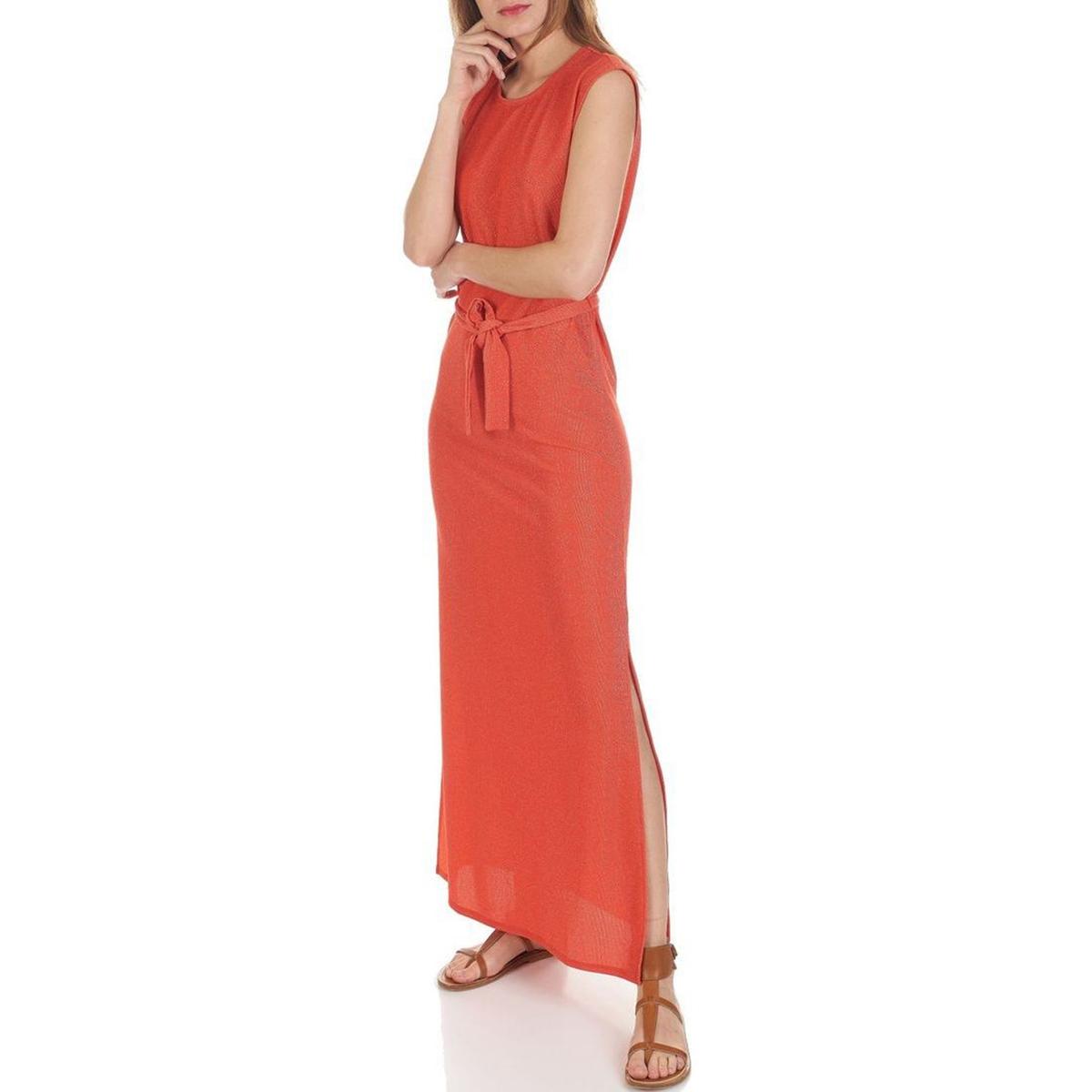Платье длинное из блестящего трикотажа, без рукавов hawk hkaw 128 1