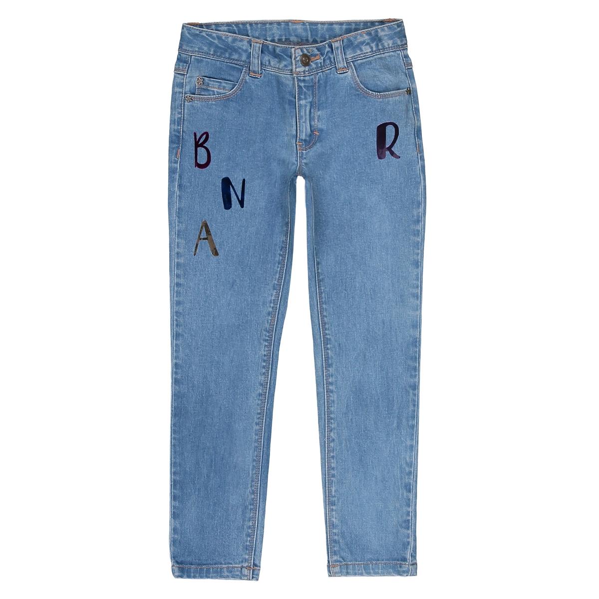 Jeans skinny fantasia lettere brillanti