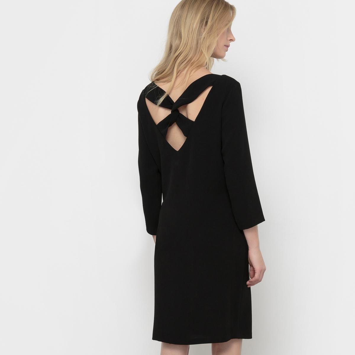 Платье с вырезом сзади