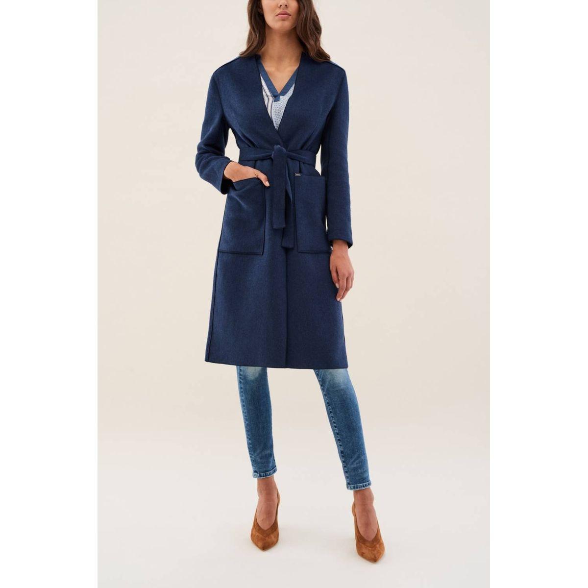Manteau en étoffe «Hand made» avec ceinture LISBOA