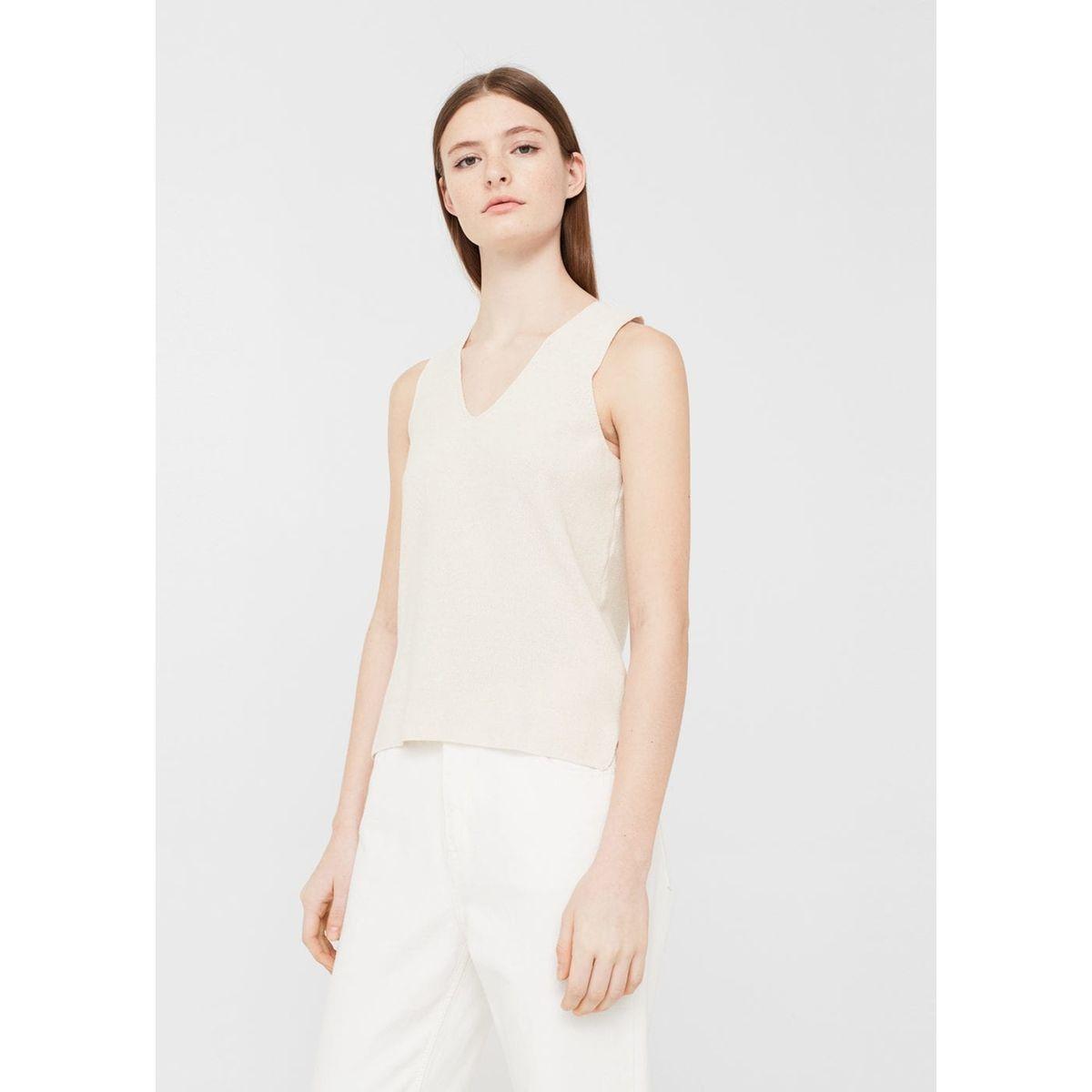 Top maille coton - feminin - bleu;beige;vert -...